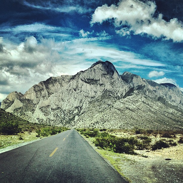 The journey of life is taking me to beautiful places. I took this photo on a highway near Monterrey, Mexico.